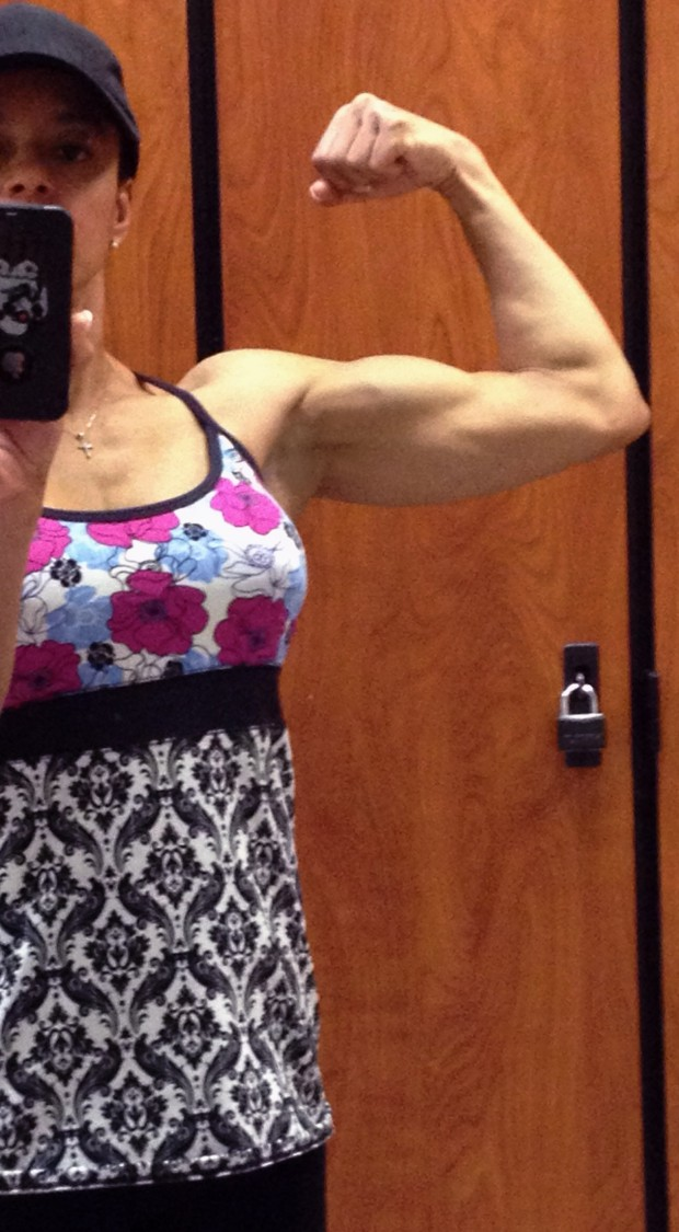 A woman with a bicep...shocking!