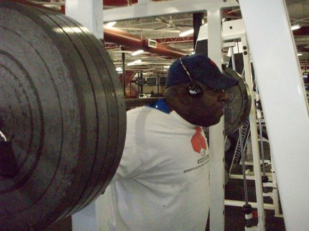 Here's Eric working hard at the gym