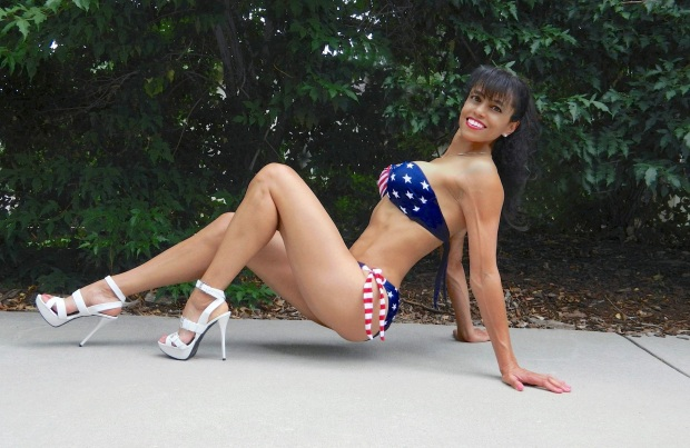 Me and my American flag bikini.