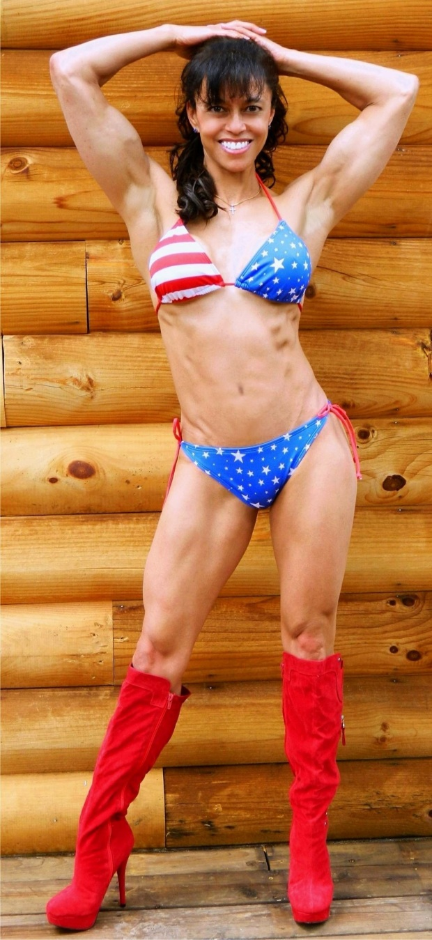 I wanna play!  I have a patriotic bikini too...and some tall red boots!  Happy Thursday y'all.