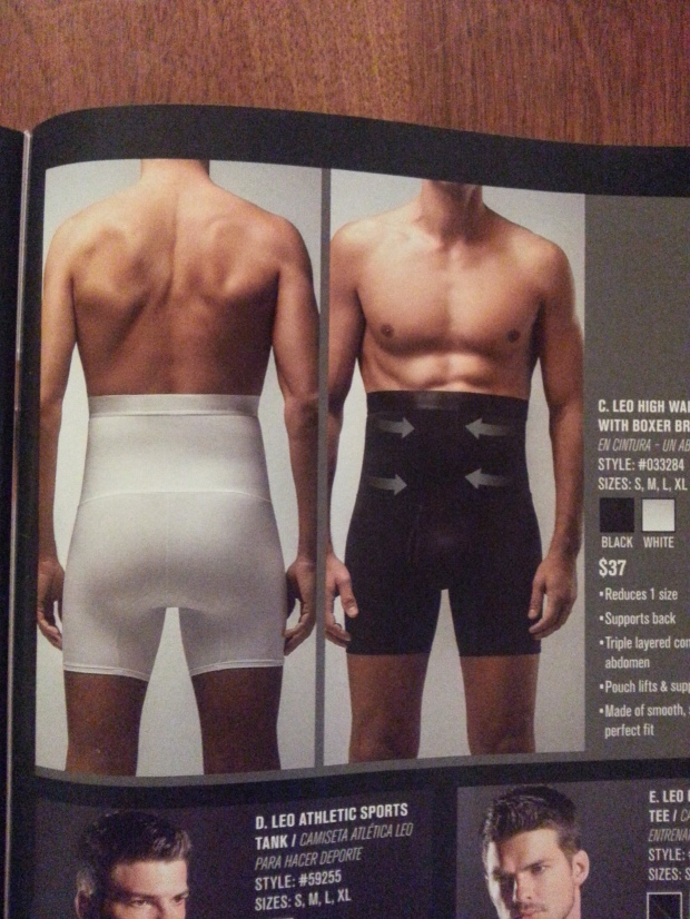 A product to help MEN hold in those tummies.  Your choice...black or white.  Personally I think black is more slimming.