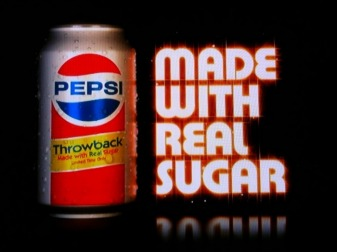 Yes, it's made with real sugar....a WHOLE BUNCH of real sugar!