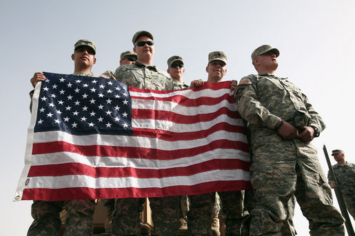 Our Soldiers and our flag