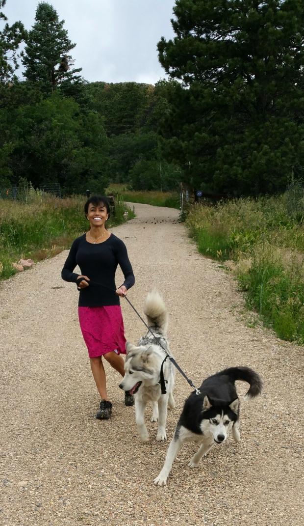 My walking companions!
