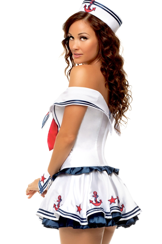 Deluxe-Sailor-Marine-Pin-Up-Girl-Women-Adult-Halloween-Costume-Fancy-Party-Dress-Free-Shipping-ST1305